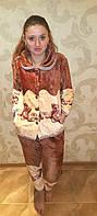Тэдди,теплая пижама,фланель