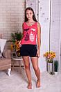 """Кльовий жіночий комплект майка з шортиками """"Єва"""", фото 2"""
