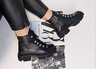 """Женские ботинки""""Черные"""" 38"""