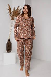 """Комфортна жіноча піжама великих розмірів """"Наталі"""""""