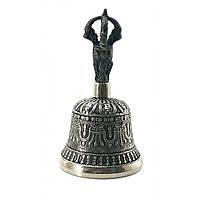 Тибетский колокол бронзовый d-7 h-13,5см 0,25кг (20998)