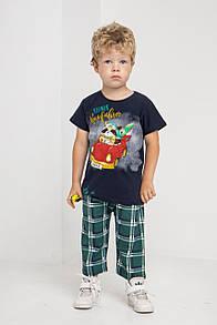 """Модний комплект для хлопчика з капрі в клітку """"Тгісе"""""""