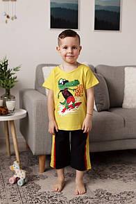 """Модний комплект бермуди і футболка для хлопчика """"Крокодил"""""""
