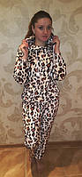 Тигровая,теплая пижама,фланель