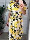 """Нереальное женское платье под поясок с лимонами """"Лалия"""", фото 6"""