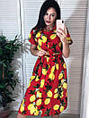 """Нереальное женское платье под поясок с лимонами """"Лалия"""", фото 7"""