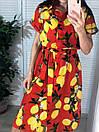 """Нереальное женское платье под поясок с лимонами """"Лалия"""", фото 8"""