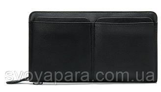 Мужской клатч-барсетка с ремешком на руку Vintage 14656 Черный