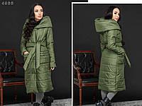 """Стильная женская зимняя длинная куртка пальто больших размеров """"Sydney"""""""