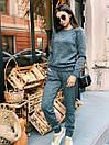 """Модный теплый вязаный женский костюм с брюками """"Джейн"""", фото 5"""