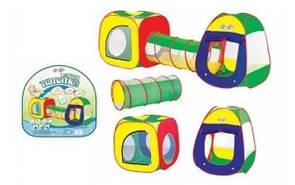"""Детская игровая палатка с тоннелем """"Домики"""""""