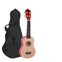 Укулеле натуральная + чехол + медиатор + струна (Гавайская гитара) HM100-GB (mrk6898)