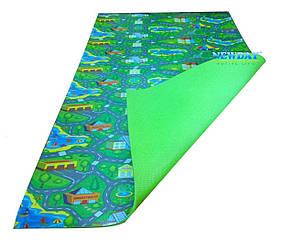 Дитячий розвиваючий килимок 1500×1100×8мм, «Містечко», ігровий килимок для малышейко, теплоізоляційний