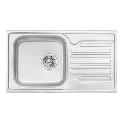 Кухонная мойка Qtap 7843 Micro Decor 0,8 мм (QT7843MICDEC08), фото 2