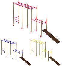 """Гімнастичний комплекс для дітей """"Зростання"""" DIO603 для ігрового майданчика."""