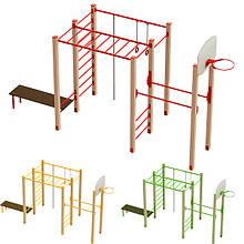 """Гімнастичний комплекс для дітей """"Спортишка"""" DIO604 для вуличної дитячого майданчика."""
