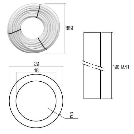 Труба PE-AL-PERT Icma 20х2 мм, 100 м №P199, фото 2