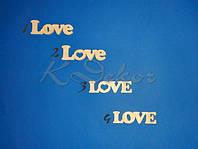 LOVE №1 заготовка для декора