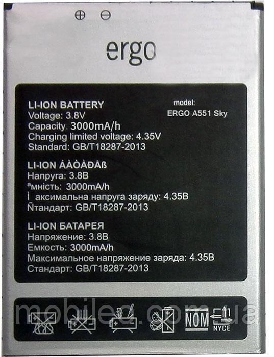 Акумулятор для Ergo A551 Sky 4G, 3000mAh, Original PRC
