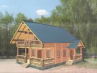 Дом из дикого сруба 9,2x8,5