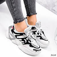Кроссовки женские Tavia белый + черный + серый 3114, фото 1