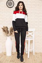 Спорт костюм женский 102R5029 цвет Красно-черный