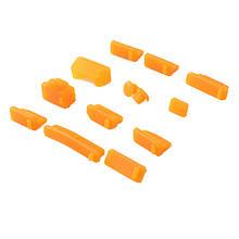 Заглушки от пыли для ноутбука силиконовые 13 шт Оранжевый
