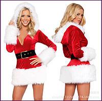 Сексуальный рождественский костюм с длинными рукавами