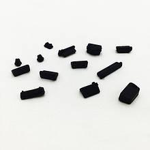 Заглушки от пыли для ноутбука силиконовые 13 шт Чёрный 16 шт
