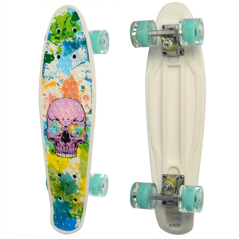 Скейт MS 0749-8 с рисунком (Белый)