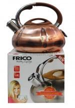 Чайник металл. со свистком FRICO FRU-773, 3 л.