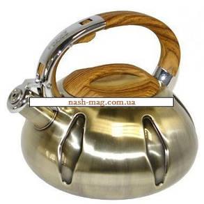 Чайник металл. со свистком FRICO FRU-773, 3 л., фото 2
