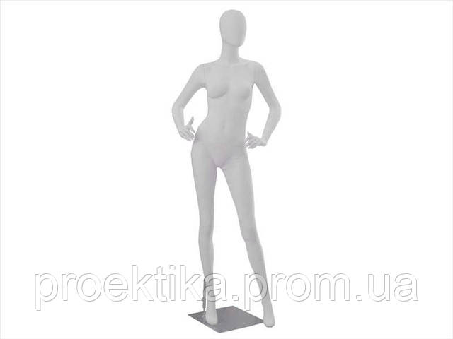 Манекен женский безликий белый, фото 1