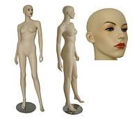 Манекен женский телесный реалистичный (без парика)
