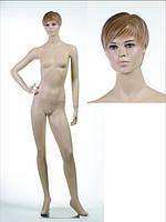 Манекен женский телесный реалистичный (без парика, квадратная база)