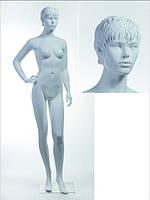 Манекен женский телесный реалистичный (двойная фикс.,квадр. база)