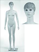 Манекен женский белый реалистичный С МАКИЯЖЕМ (квадр. база)