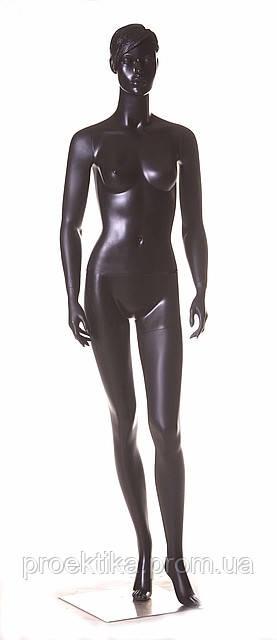 Манекен женский черный БЕЗ МАКИЯЖА, фото 1