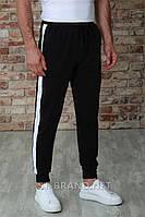 Мужские спортивные штаны на манжете ТМ «Fazor», Узбекистан / Размеры: 46-54 / Трикотаж двунитка - черные