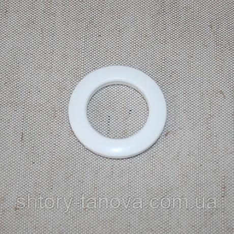 Люверсы пластиковые для штор эконом не крашеный белый 35 мм