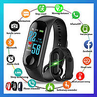 Фитнес трекер Xiaomi Mi band 5 Plus, Fitnes tracker M5, smart watch смарт годинник часы РЕПЛИКА Prot