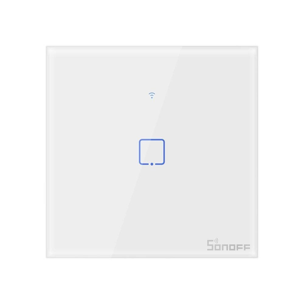 Сенсорный Wi Fi выключатель Sonoff T2 один канал, белый
