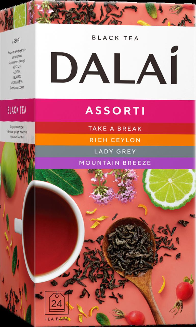 Чай DALAI Асорті з 4 смаків 24шт