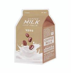Тканевая маска с экстрактом кофе A'Pieu Milk Coffee Milk One-Pack
