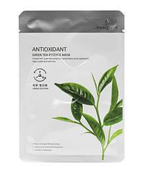 Тканевая маска Beauugreen  Green tea essence mask с экстрактом зеленого чая 23 мл.