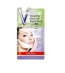 Корректирующая лифтинг-маска для подбородка и шеи Purederm Miracle Shaping Face-up Treatment