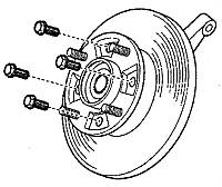 Болт крепления торм. диска MATIZ II /SPARK GM Корея (ориг) 94501499 КОМПЛЕКТ 10 штук