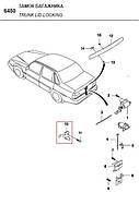 Выключатель привода замка багажника nexia, espero GM Корея (ориг)  96100612  КОМПЛЕКТ 5 штук