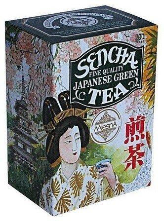 Зеленый чай Сенча японский Млесна картон 200 г