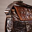 Cумка мужская с тиснением под крокодила Vintage 14698 Коричневая, Коричневый, фото 2